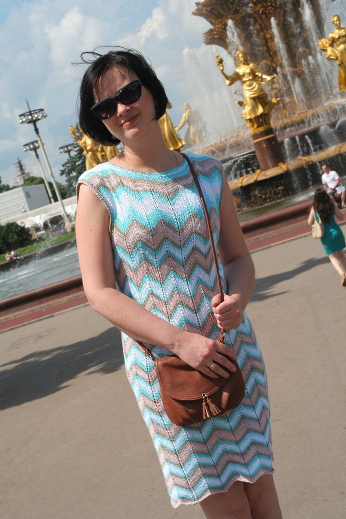 Белла батик платье спицами