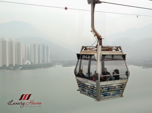 ngong ping cable car south china sea view