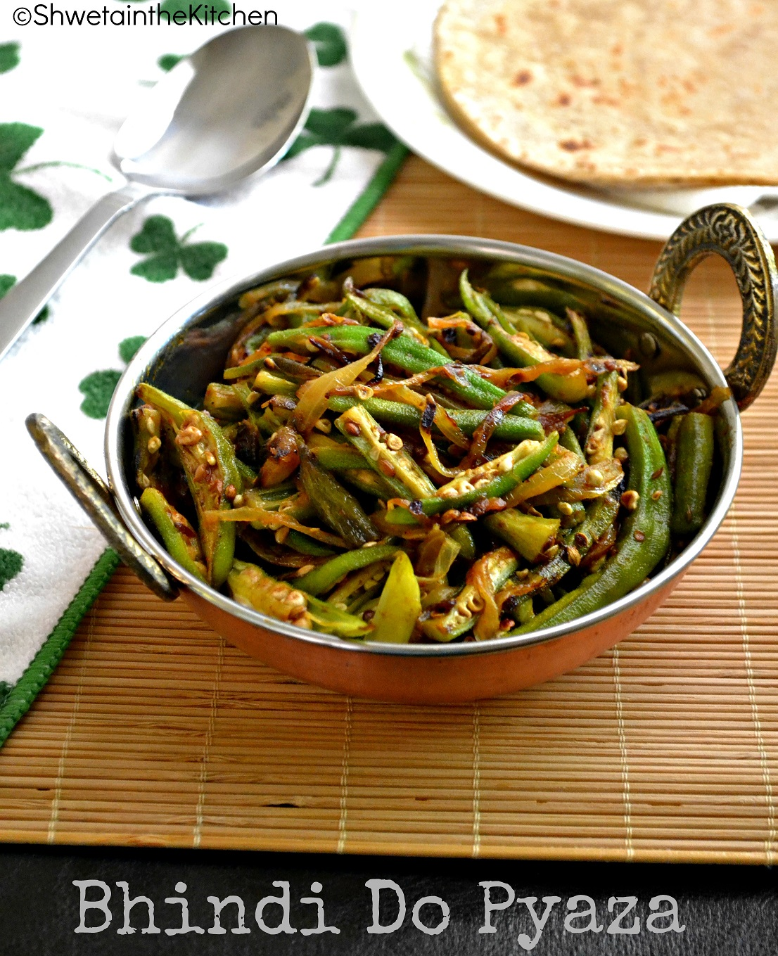 Bhindi Do Pyaza - Okra Stir Fried With Onion Recipes — Dishmaps