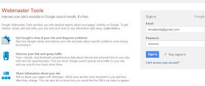 login google webmaster