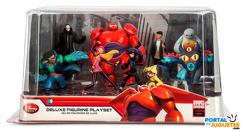 figuras big hero 6 disney store set completo caja