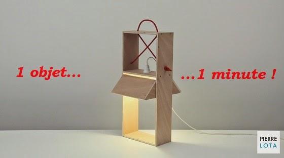diy 1 objet 1 minute la baladeuse design initiales. Black Bedroom Furniture Sets. Home Design Ideas
