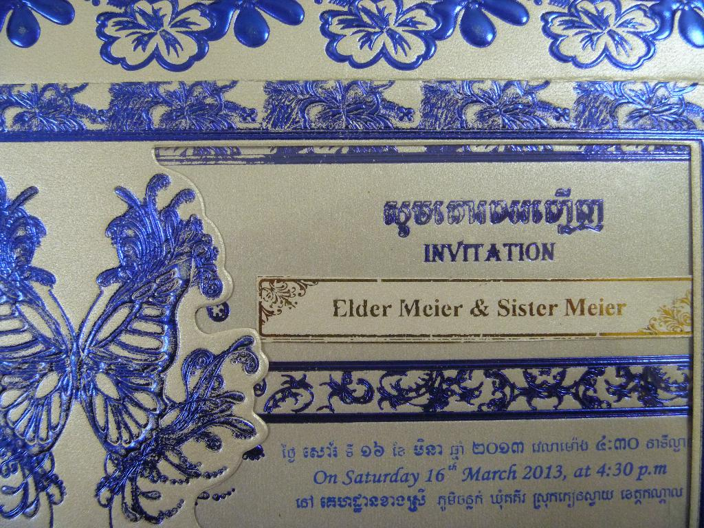 Wedding Invitations in CambodiaOther dressesdressesss