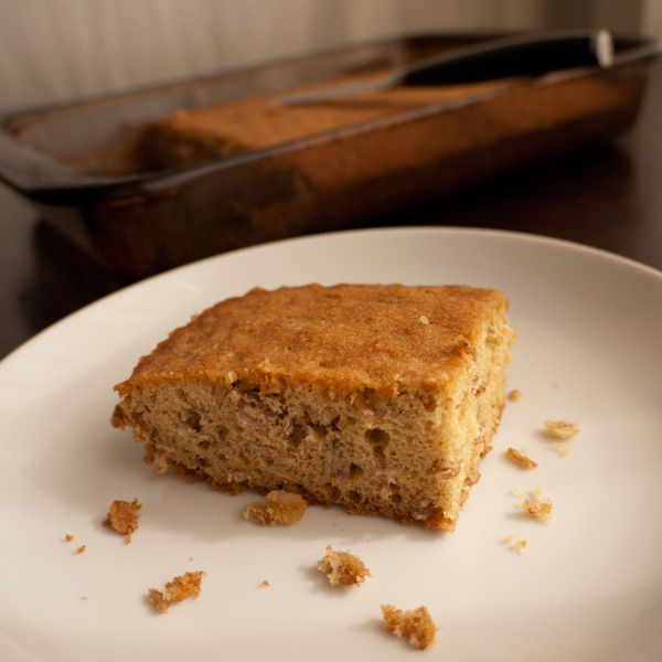 Slice of oatmeal cake