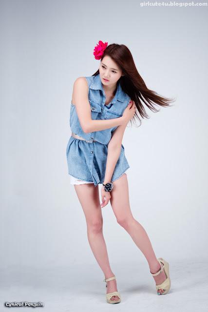 13 Han-Ga-Eun-Denim-Shirt-01-very cute asian girl-girlcute4u.blogspot.com