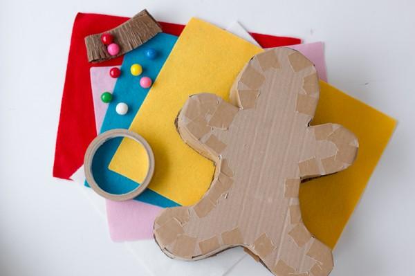 materiales para hacer una piñata o caja con forma de galleta