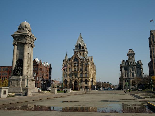 Clinton Plaza en la ciudad de Syracuse