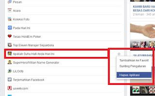 Cara menghapus Aplikasi Facebook yang tidak penting