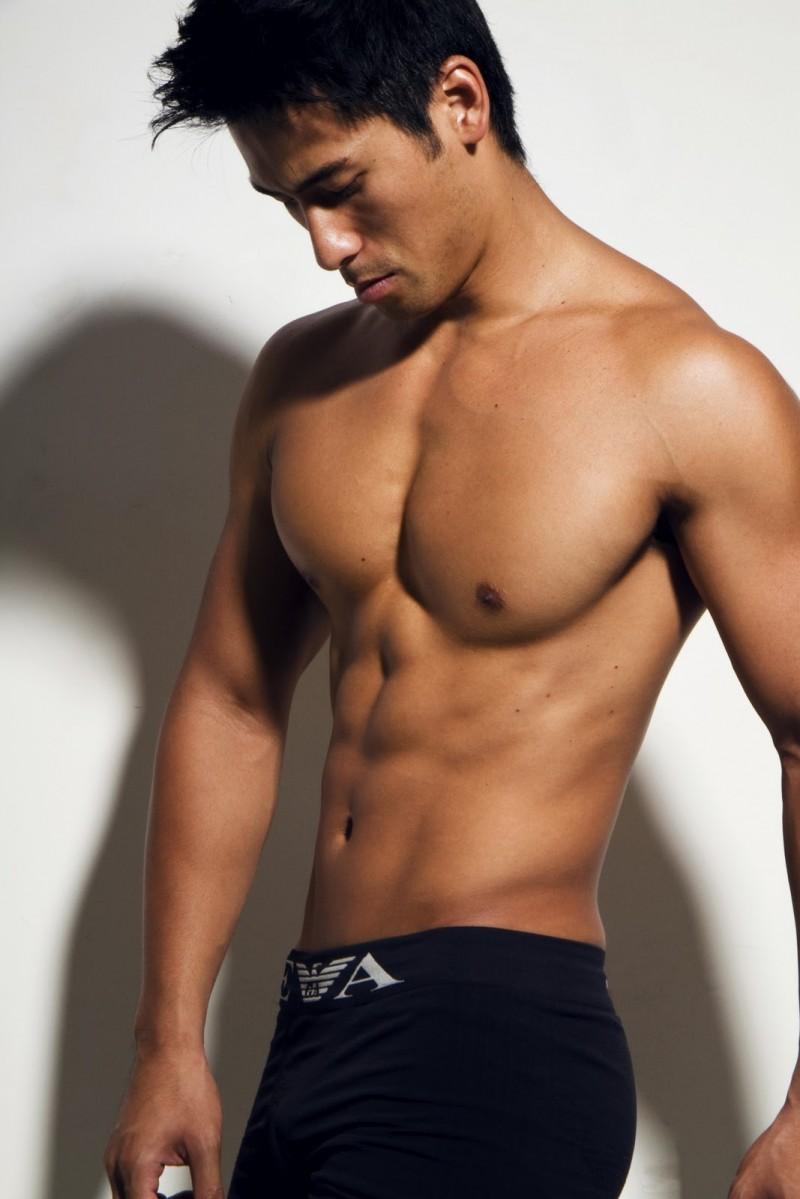 asain guy no shirt