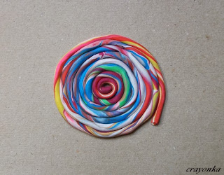 Skręcona plastelina - muszla ślimaka