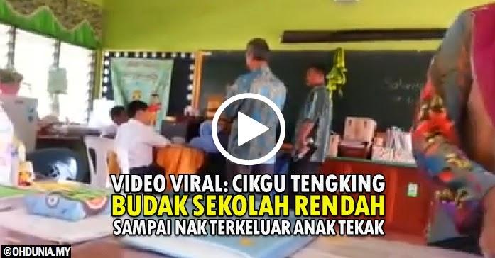 Video viral: Cikgu tengking budak sekolah rendah sampai tak ingat dunia