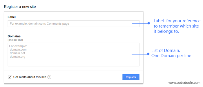 Google recatcha signup