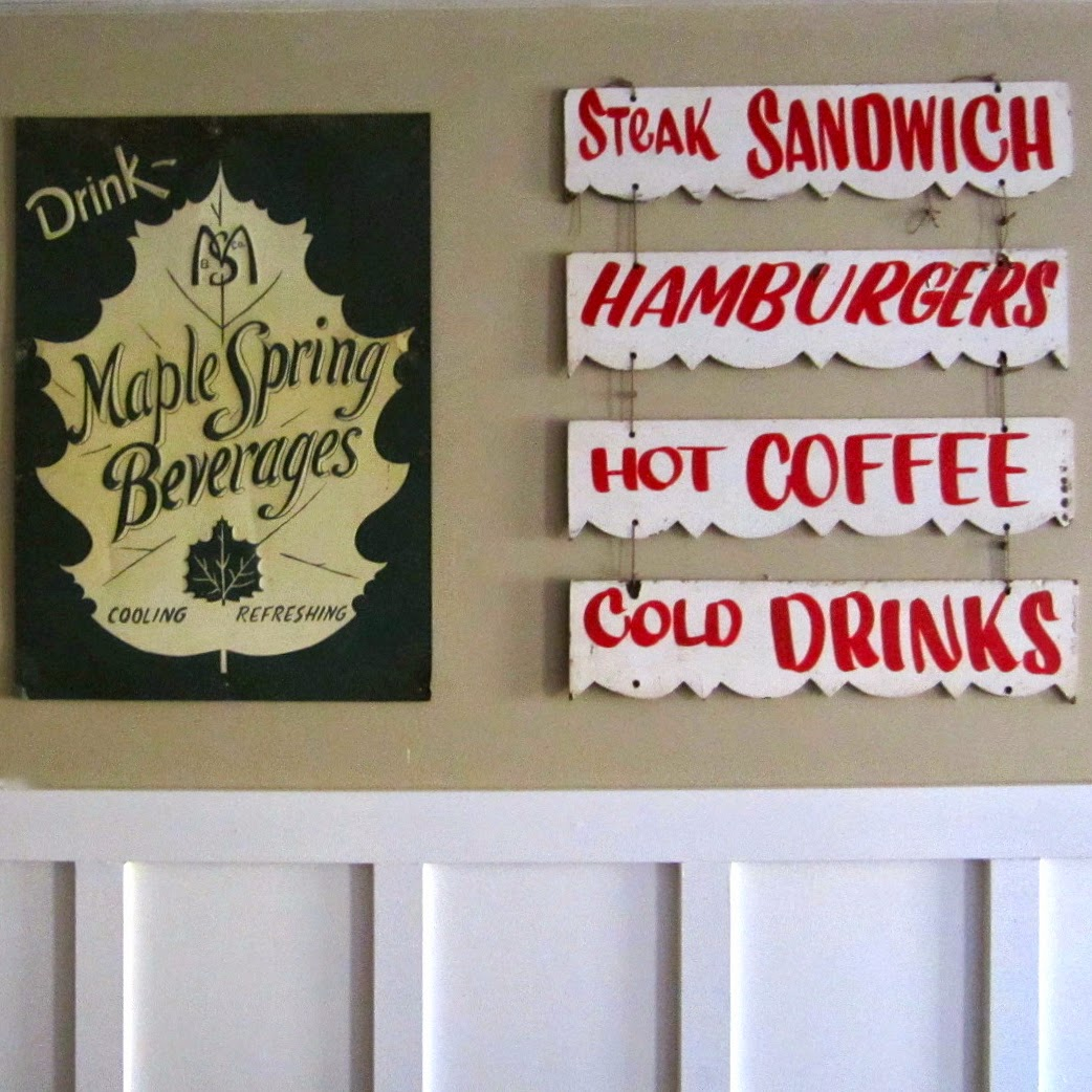 vintage Maine sandwich shop sign