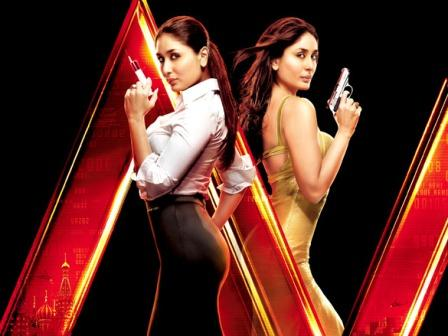 Kareena Kapoor Agent Vinoc Side Pose Wallpaper in Tight Dress - Golden and Formal - Kareena Kapoor Agent Vinod New Movie Stills