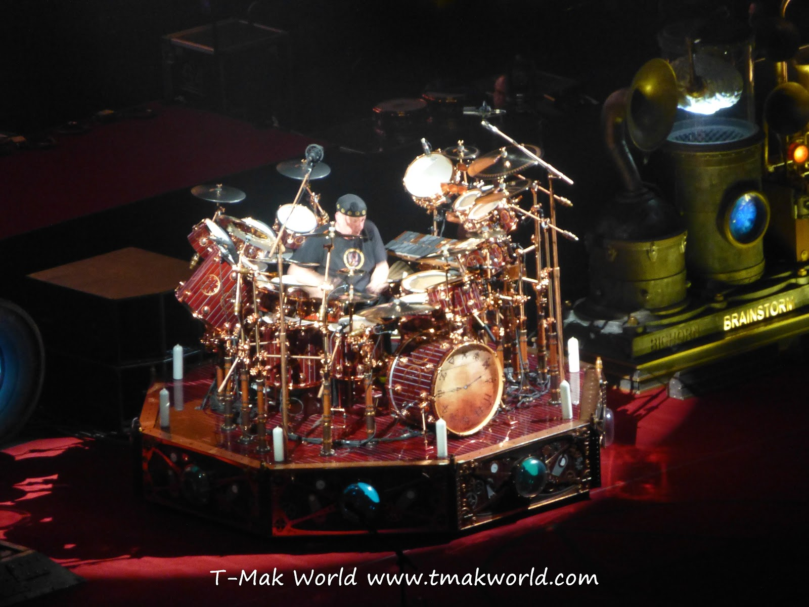Rush Concert Wallpaper Neil Peart of Rush in Toronto