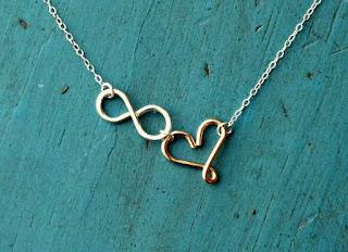 en güzel hediye, sonsuz aşk sevgi, kalpli kolye