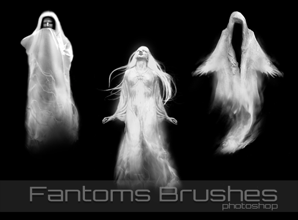 Ghosts Photoshop & GIMP Brushes | Obsidian Dawn