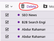 Select & Delete All Messages from Yahoo Mail