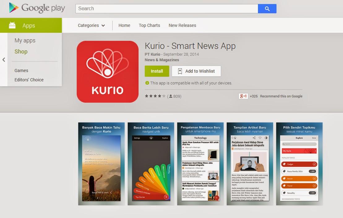 KURIO - Aplikasi Pintar Dalam Memberikan Berita