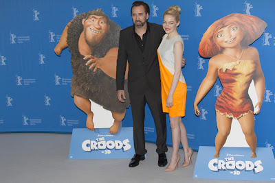 Nicholas Cage and Emma Stone, The Croods premiere