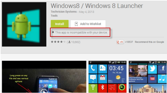 Windows 8 Launcher app