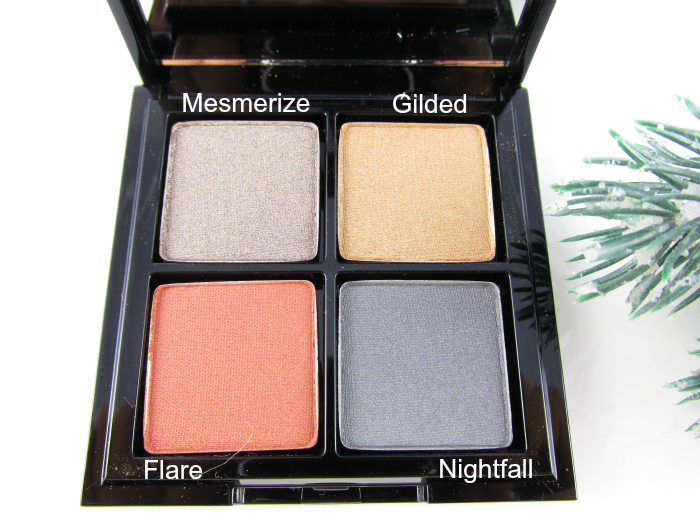 Review: glo minerals Eye Shadow Quad Spellbound - Nuancen / Colours mesmerize, gilded, flare, nightfall € 59,50