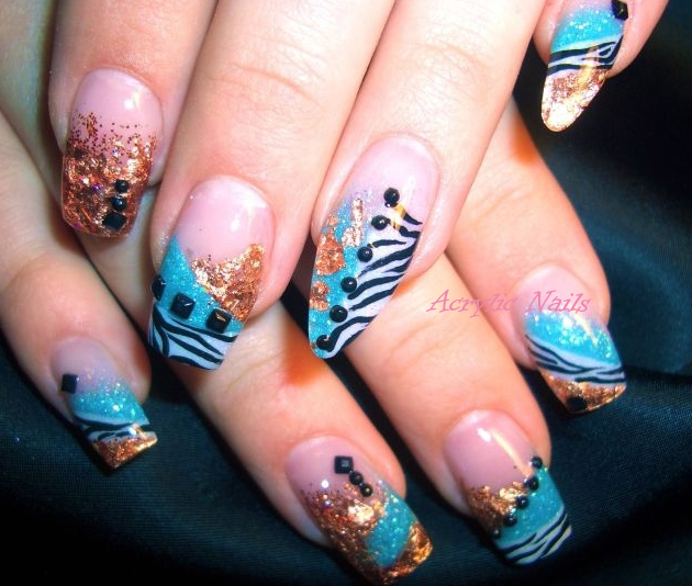 Acrylic nails with stylish nail designs by acrylic nails prinsesfo Image collections