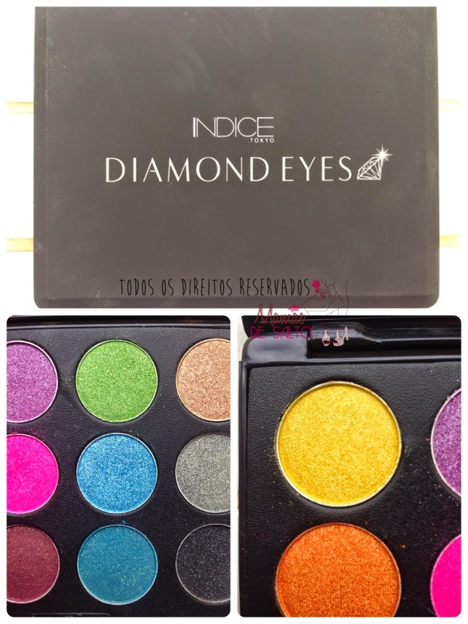 paleta sombras diamond eye indice tokyo => blog Mamãe de Salto