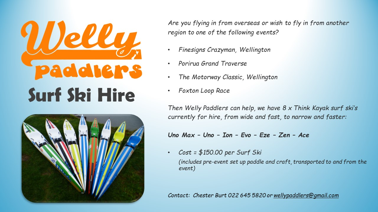 Welly Paddlers surf ski hire
