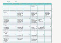 Calendario del Club