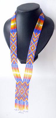 купить яркое этническое украшение индейский гердан уичоль Anabel