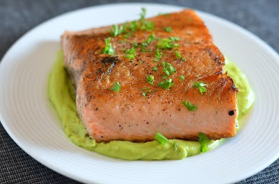 The Savvy Kitchen: Pan Seared Salmon with Avocado ...