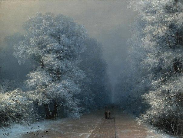 """И.К. Айвазовский """"Зимний пейзаж"""". Старый год. Блог Вся палитра впечатлений"""