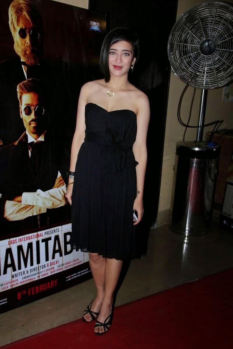 Cute hot black dress spicy photos gallery at shamitabh hindi movie