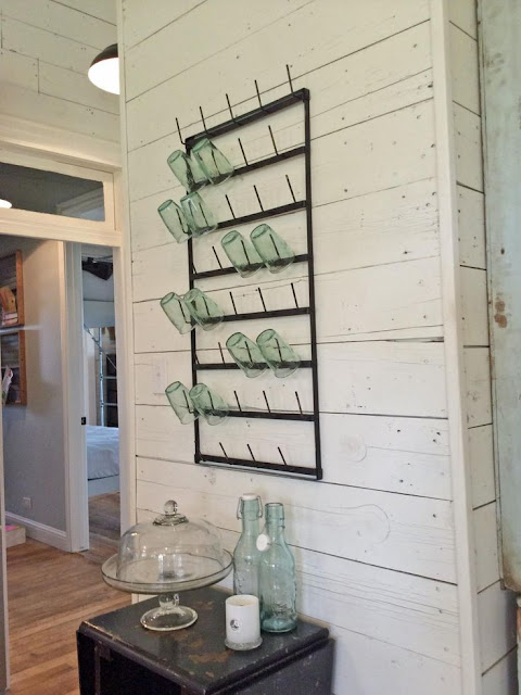 Shiplap painted Joanna Gaines trademark decorating element