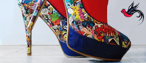 Você também quer um sapato feito com quadrinhos