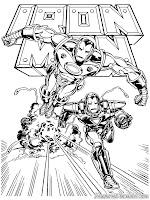Mewarnai Gambar Iron Man