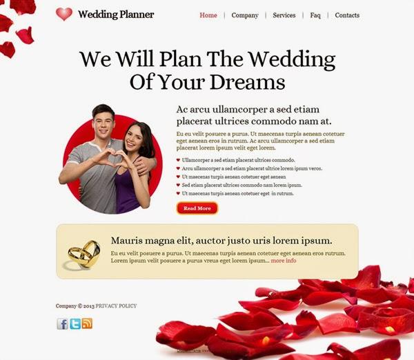Wedding Planner - Free Drupal Theme