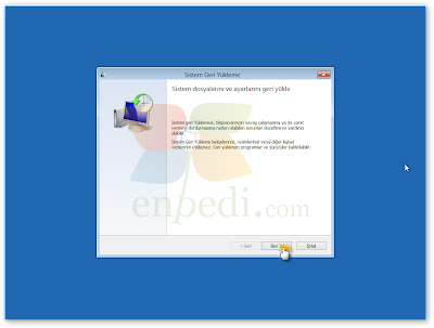 enpedi 15 28 48 Windows 8 Sistem Geri Yükleme Nasıl Yapılır