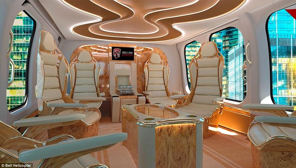 lhlicoptre commercial a une luxueuse cabine de 88 pieds carrs et lespace