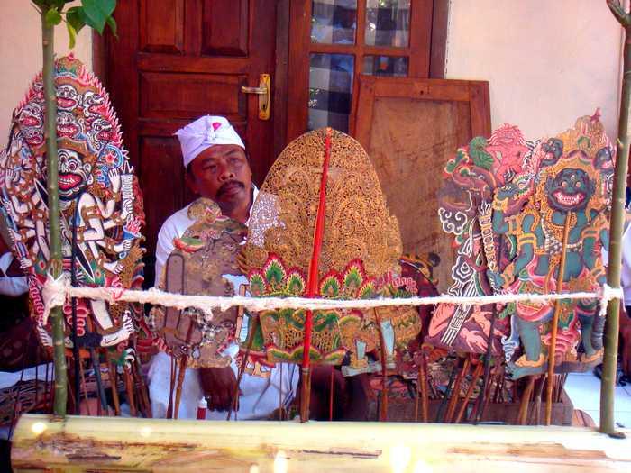 Wayang Balinese puppets