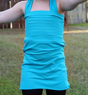 Women's Tube Top to Toddler Tunic Refashion Tutorial by Tricia @ SweeterThanSweets