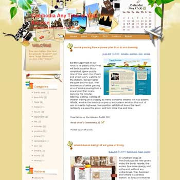 Cambodia Any Time at Your Service Blogger Template. free download template blogspot