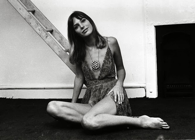 Jane Birkin in a dress