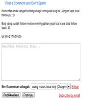 Cara Mudah Menambahkan Tulisan di Atas Kotak Komentar Blog Cara Mudah Menambahkan Tulisan di Atas Kotak Komentar Blog