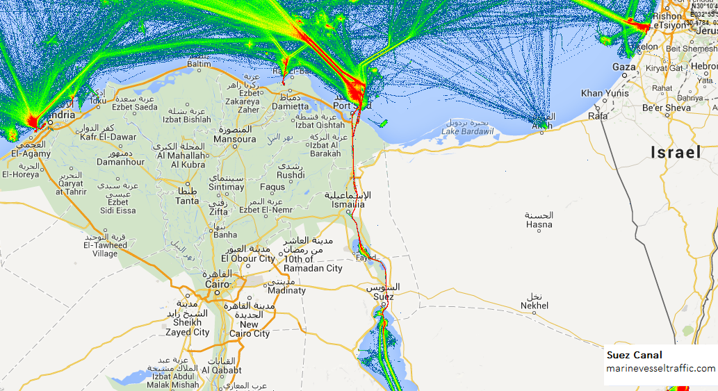 SUEZ CANAL SHIP TRAFFIC AIS Ship Traffic