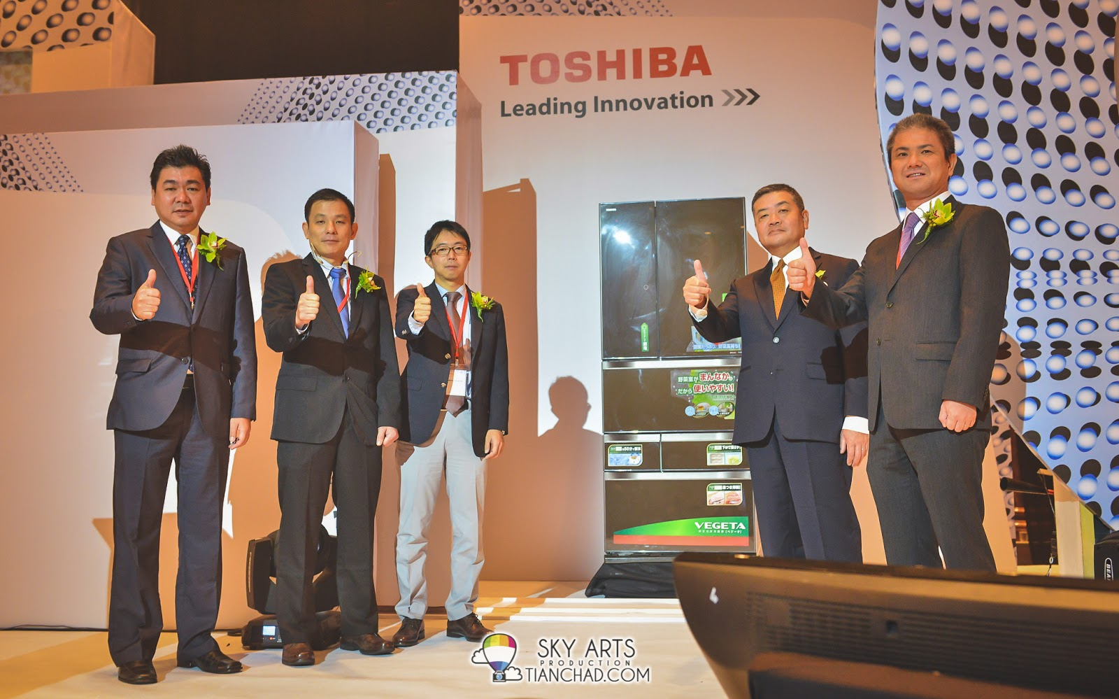 Toshiba VIPs together with the awesome Premium Multi-Door G-Series Inverter Refrigerator