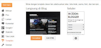 CARA EDIT KODE HTML BLOGSPOT