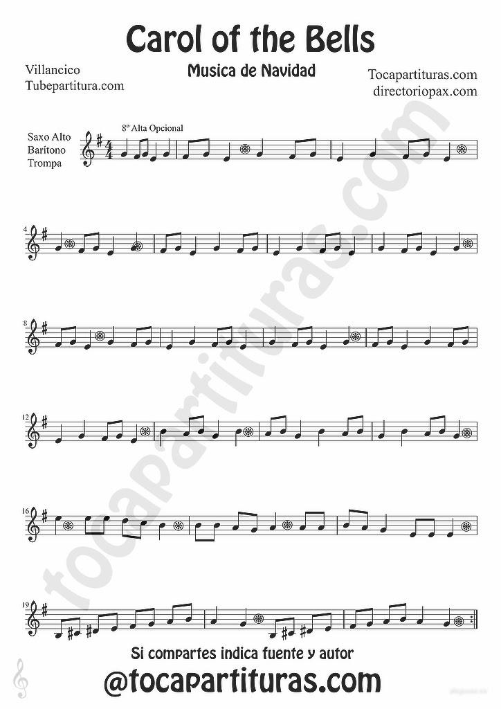 tubescore: Carols of the Bells sheet music for Alto and Baritone ...
