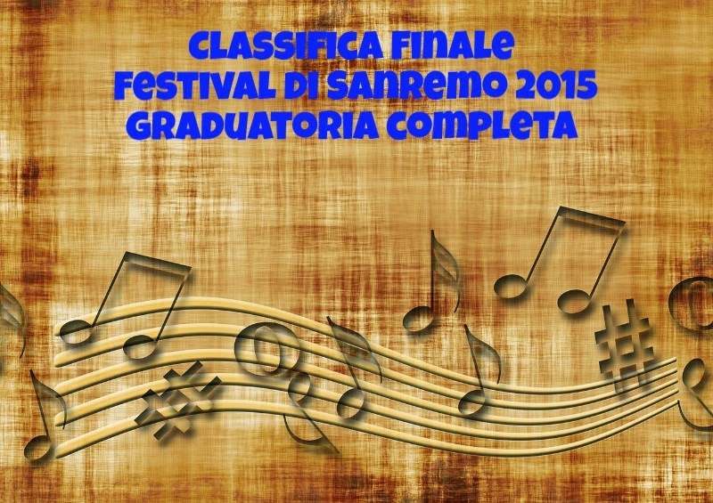 Classifica Finale Festival Sanremo 2015
